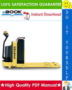 hyster w65z (a229) walkie pallet truck parts manual