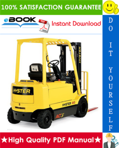 Hyster J40Z, J50Z, J60Z, J65Z (A416) Forklift Trucks Parts Manual | eBooks | Technical