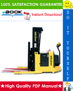 Hyster W20XTR, W30XTR (A455) Walkie High Lift Straddle Parts Manual | eBooks | Technical