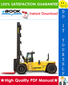 hyster h800hd, h900hd, h1050hd, h800hds, h900hds, h970hds, h1050hds (a917) high-capacity forklift trucks parts manual