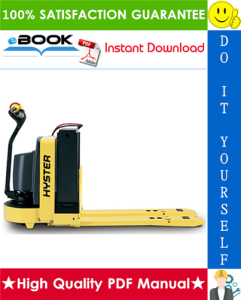 Hyster W40Z (B218) Walkie Pallet Truck Parts Manual on
