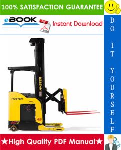 hyster n30xmxdr3, n45xmxr3 (b264) electric reach truck parts manual