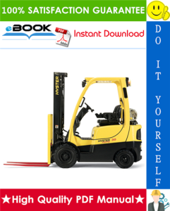 hyster challenger h30h, h40h, h50h, h60h (d003) forklift trucks parts manual