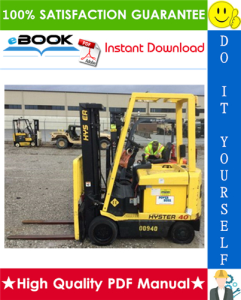 hyster e25xm2, e30xm2, e35xm2, e40xm2s (d114) electric forklift trucks parts manual