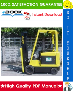 hyster e25xm, e30xm, e35xm, e40xms (d114) electric forklift trucks parts manual