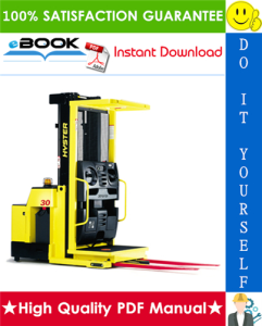 Hyster R30E, R30EA, R30EF, R35E (D118) Electric Reach Trucks Parts Manual | eBooks | Technical