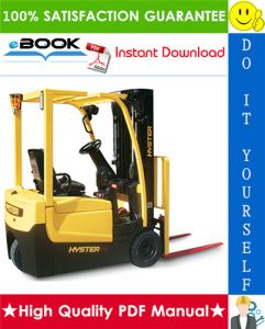 hyster a25xnt, a30nxt (d203) 3-wheel electric forklift trucks parts manual