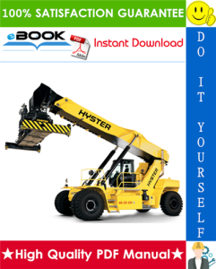 hyster rs45-27ch, rs45-31ch, rs46-36ch, rs46-41l-ch, rs46-41s-ch, rs46-41ls-ch (d222) container reachstacker parts manual