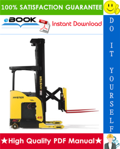 Hyster N35ZR, N40ZR, N30ZDR (D470) Reach Trucks Parts Manual   eBooks   Technical