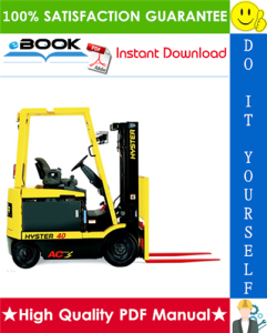 hyster e25z, e30z, e35z, e40z (e114) electric forklift trucks parts manual