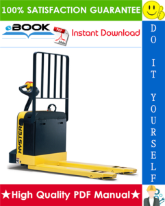 Hyster W60XT, W80XT (E135) Electric Pallet Truck Parts Manual | eBooks | Technical