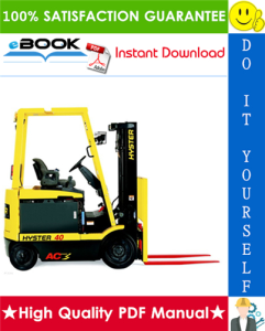 Hyster E25Z, E30Z, E35Z, E40ZS (F114) Forklift Trucks Parts Manual | eBooks | Technical