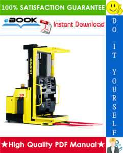 Hyster R30XM, R30XMA, R30XMF (F118) Electric Narrow Aisle Order Picker Parts Manual | eBooks | Technical