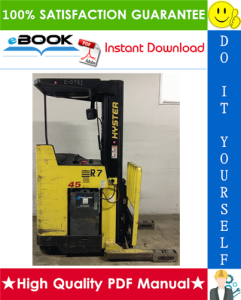 Hyster N30XMDR3, N45XMR3 (G138) Electric Narrow Aisle Double Reach Lift Trucks Parts Manual | eBooks | Technical