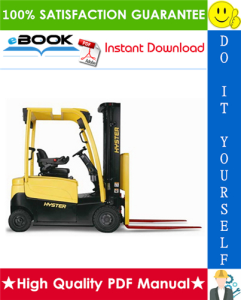 hyster j30xnt, j35xnt, j40xnt (k160) 3-wheel electric forklift trucks parts manual