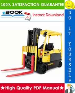 hyster e80xn, e100xn, e100xns, e120xn (a099) 4-wheel electric forklift trucks service repair manual