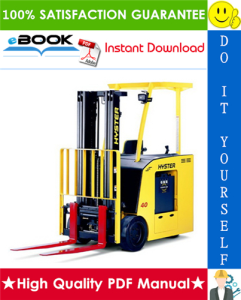 hyster e30hsd, e35hsd, e40hsd (a219) electric forklift trucks service repair manual