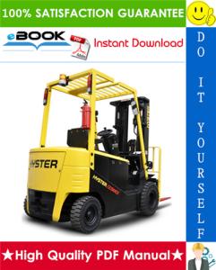 Hyster J1.50 - J1.75EX, J2.00 - J2.50EX (A401) Forklift Trucks Service Repair Manual | eBooks | Technical