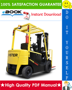 Hyster J1.50 - J1.75EX, J2.00 - J2.50EX (A402) Forklift Trucks Service Repair Manual | eBooks | Technical