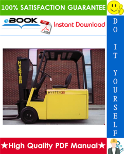Hyster J25A, J25B, J30A, J30B, J35A, J35B, J30AS, J30BS (B160) Forklift Trucks Service Repair Manual | eBooks | Technical