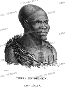 grou-agara, an adult male van diemen's land (tasmania), nicolas-martin petit, 1803