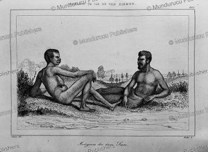 Man and woman of Tasmania, Victor Marie Felix Danvin, 1838 | Photos and Images | Travel