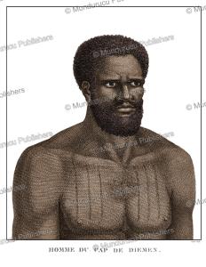 man of tasmania, jean piron, 1790