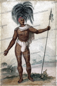 chief te po of rarotonga, cook islands, c. 1830