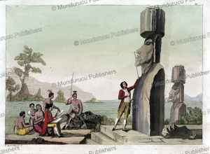 captain cook at easter island, carlo bottiglia, 1816