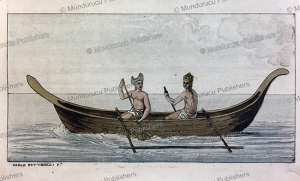 canoe of easter island, carlo bottigelli, 1816