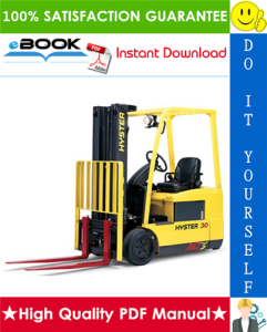 hyster j40z, j50z, j60z, j65z (b416) electric forklift trucks service repair manual