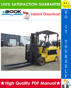 Hyster E70XL, E80XL, E100XL, E100XLS, E120XL (Pre-SEM) [C098] Electric Forklift Trucks Service Repair Manual | eBooks | Technical
