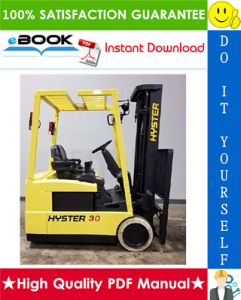 Hyster J30XMT, J35XMT, J40XMT (C160) Forklift Trucks Service Repair Manual | eBooks | Technical