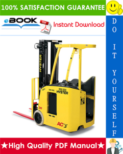 hyster e30hsd3, e35hsd3, e40hsd3 (c219) 3-wheel electric forklift trucks service repair manual
