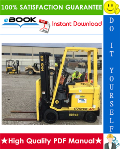 hyster e25xm2, e30xm2, e35xm2, e40xm2s (d114) electric forklift trucks service repair manual