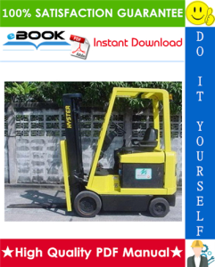 Hyster E25XM, E30XM, E35XM, E40XMS (Pre-SEM) [D114] Electric Forklift Trucks Service Repair Manual | eBooks | Technical