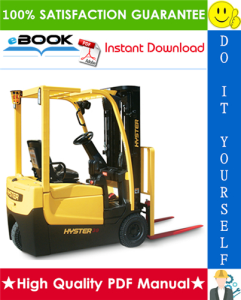 hyster a25xnt, a30nxt (d203) 3-wheel electric forklift trucks service repair manual