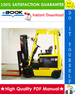 Hyster E45XM2, E50XM2, E55XM2, E60XM2, E65XM2 (F108) Cushion Tire Sit-Down Rider Electric Lift Trucks Service Repair Manual | eBooks | Technical