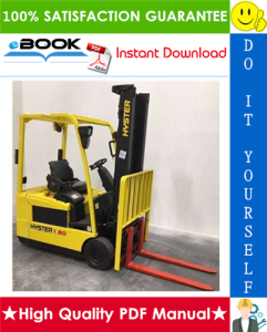 Hyster J1.60XMT, J1.80XMT, J2.00XMT (G160) Forklift Trucks Service Repair Manual | eBooks | Technical