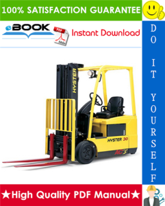 Hyster J30ZT, J35ZT, J40ZT (J160) Forklift Trucks Service Repair Manual | eBooks | Technical