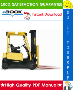 Hyster J30XNT, J35XNT, J40XNT (K160) 3-Wheel Electric Forklift Trucks Service Repair Manual | eBooks | Technical