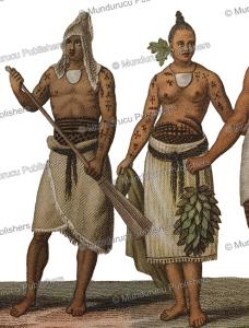 Man and woman from Rotouma, Fiji, Lejeune and Chazal, 1826 | Photos and Images | Travel