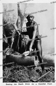 Beating the death-drum for a cannibal feast, Fiji, 1913 | Photos and Images | Travel