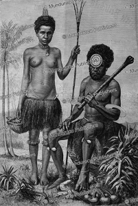 Man and woman from Fiji, E. Ronjat, 1887 | Photos and Images | Travel