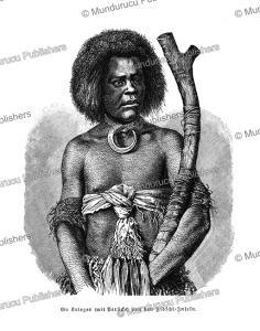 warrior of the fiji islands, 1894