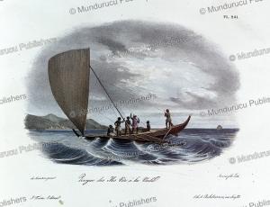 Canoe of Fiji, Louis Auguste de Sainson, 1835 | Photos and Images | Travel