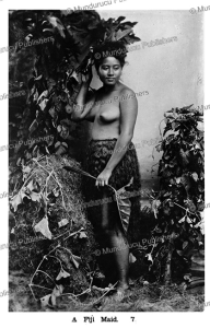 A Fiji maid, 1913 | Photos and Images | Travel