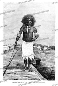 Man of Fiji Island, Barbotin, 1894 | Photos and Images | Travel