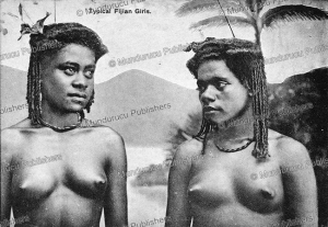 Postcard with typical Fijian girls, 1910 | Photos and Images | Travel