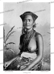 woman of fiji, josiah martin, 1900